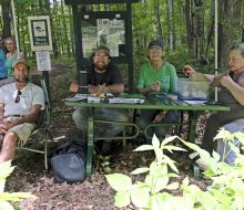 Checkin at Bratt Woods - Tom Kroeger, Ryan ,Joyce Huff, and Magie Bradys - Treasures 2018